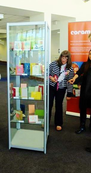 @cardsforkeeps display at the regional. Exciting stuff! #cardsforkeeps #coram