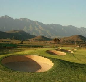 Robertson Golf Club - Surrounded by the rolling Langeberg mountains in the Breede River Valley Winelands and bordered by vineyards and orchards, the 18-hole Robertson golf course on the Silwerstrand Golf and River Estate is a Golf Course worth visiting. #robertson #golf #breede #silwerstrand #golfcourse