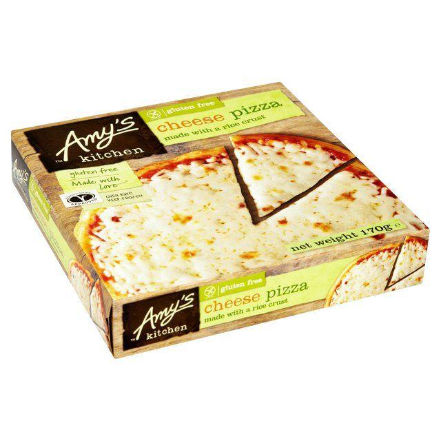 Кухня Эми без глютена рисовая корочка сыра Пицца замороженная 170г из супермаркета