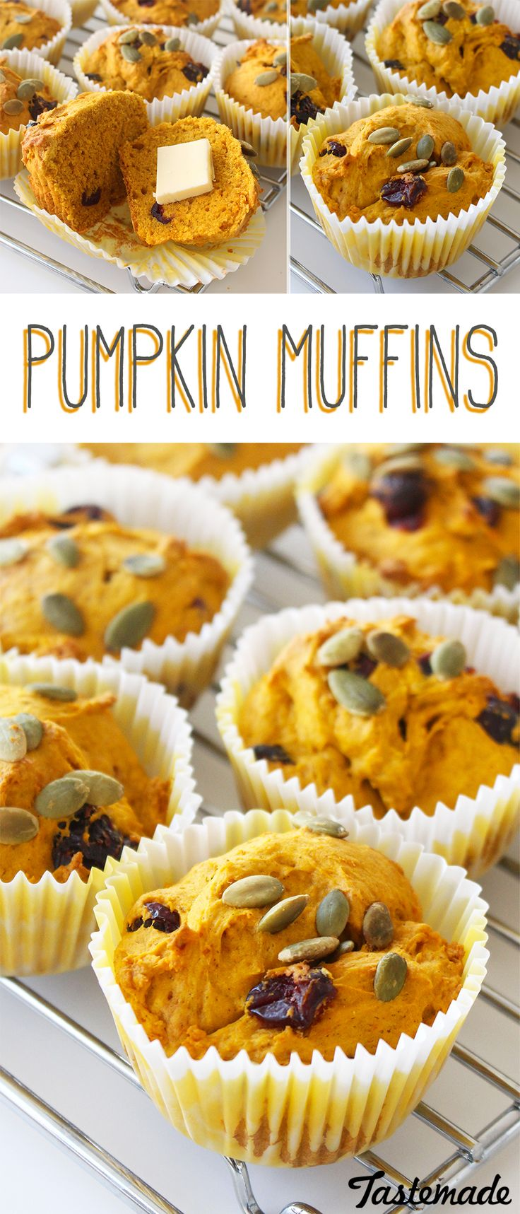 Filled with spices and dried cranberries, these muffins are perfect for breakfast ... or whenever!