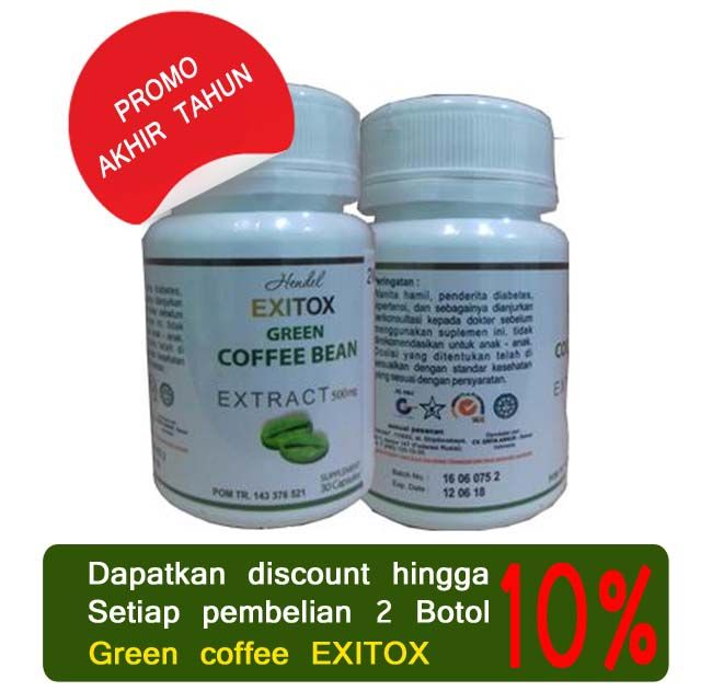 green coffee exitox murah