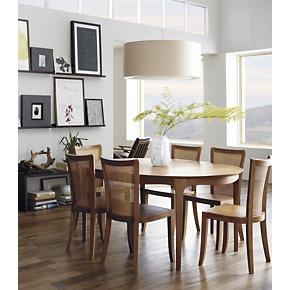Beautiful Calista Extension Dining Table In Dining Tables | Crate And Barrel