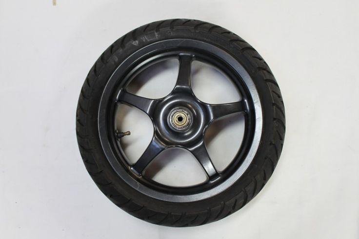 Yamaha Aerox Vorderradfelge mit Reifen 50% schwarz