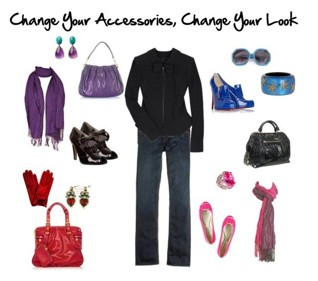Change Your Accessories by imogenl on Polyvore featuring polyvore fashion style RM by Roland Mouret J.Crew Jimmy Choo STELLA McCARTNEY Miu Miu Prada Roberto Cavalli Wet Seal Hayden-Harnett Christian Louboutin clothing accessories