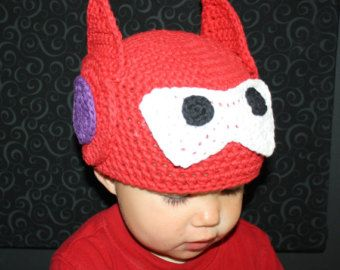 Big Hero 6 Baymax Hat Infant Toddler Child and by HulaLoopDesigns