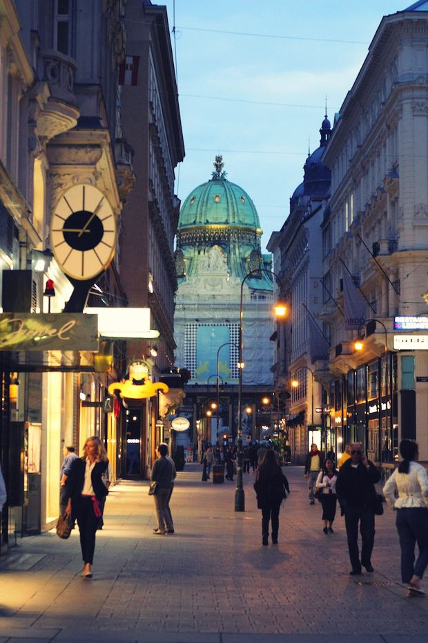 Vienna  ~  walk straight ahead, Demel is on your right -- divine pastries and coffee, with historical background (the Emperor was an enthusiastic patron!)