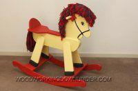 Ah! E se falando em madeira...: cavalo infantil de balanço, projeto gratuito no blog