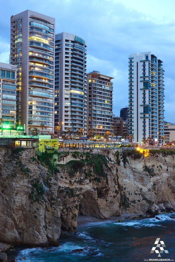 A stunning view of Beirut on the Rocks منظر رائع لبيروت فوق الصخور By Mohamed Haykal #Lebanon #WeAreLebanon