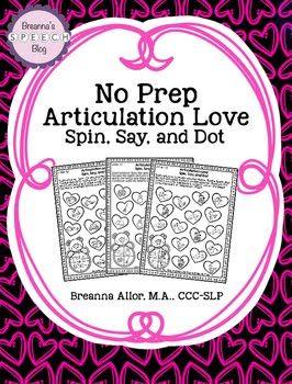 Freebie: No Prep Articulation Love
