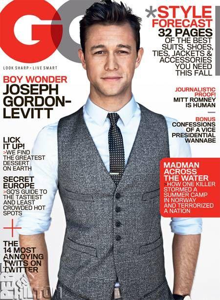 This vest.: Dark Night, Grooms Outfits, Gq Magazines, Ties Clip, Joseph Gordon Levitt, Future Husband, Dark Knight, Josephgordonlevitt, Magazines Covers