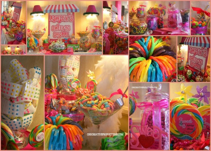Sweet 16 candy bar - Children's Party Network