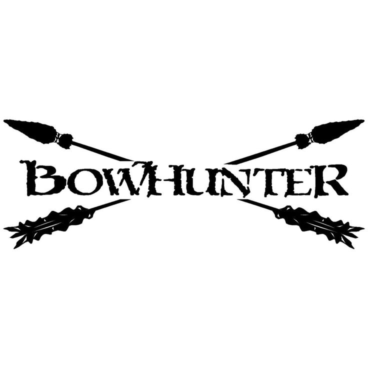 rear window bow hunting logo decals outdoor decals