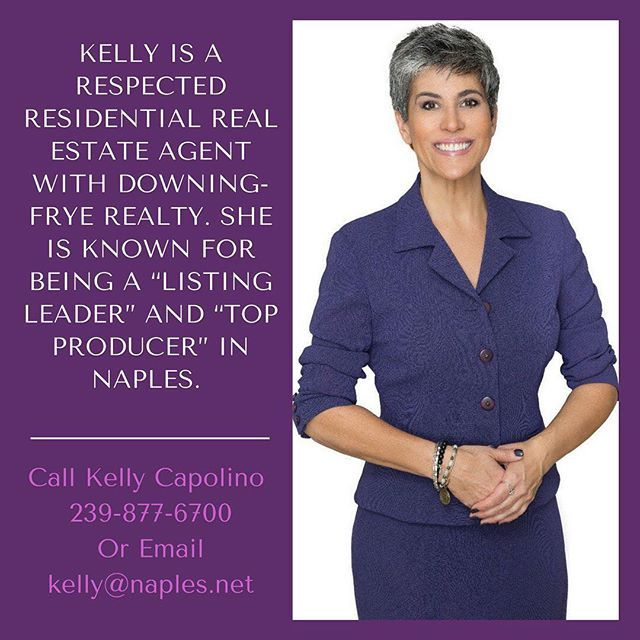 Since joining Downing-Frye Capolino has listed a $2.6 million dollar Pelican Bay remodel and a two and one-half acre estate home for $2 million dollars in Tuscany Villa at Mediterra.  #KellyCapolino #NaplesRealtor #NaplesRealEstate #HouseHunting #DowningFryeRealty #SWFL #ForSale #HomeBuying