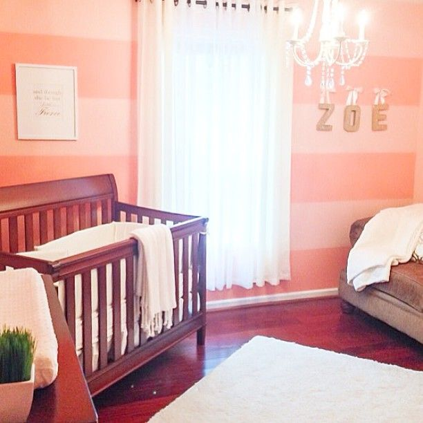 Budget friendly, DIY coral baby nursery - Deevadesigns.com