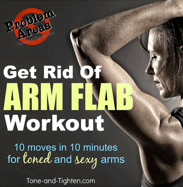 "Eliminate ""Arm Flab"" forever with this amazing workout! Part of the ""Problem Areas"" series on Tone-and-Tighten.com #workout #exercise"