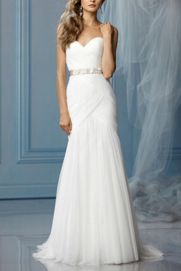 Watters Strapless English Wedding Dress at shoptiques #affiliatelink