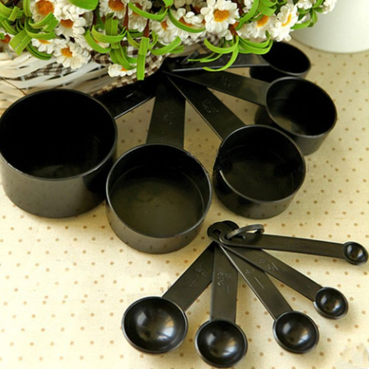 Black Plastic Measuring Cups 10pcs/lot Measuring Spoon Kitchen Tools M – m.k gadgets