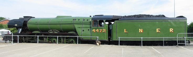 A merged view of the Flying Scotsman A3 Pacific locomotive number 4472, photgraphed at the Rail200 Railfest at the National Railway Museum in York, 2 June 2004