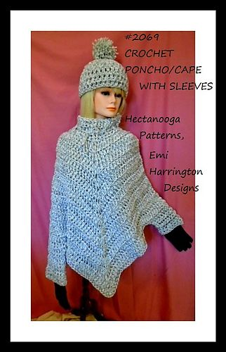 Best 25+ Crochet poncho with sleeves ideas on Pinterest ...