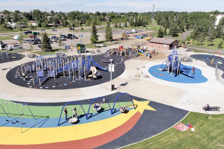 Castledowns Rec Center playground (and spray park) in Edmonton
