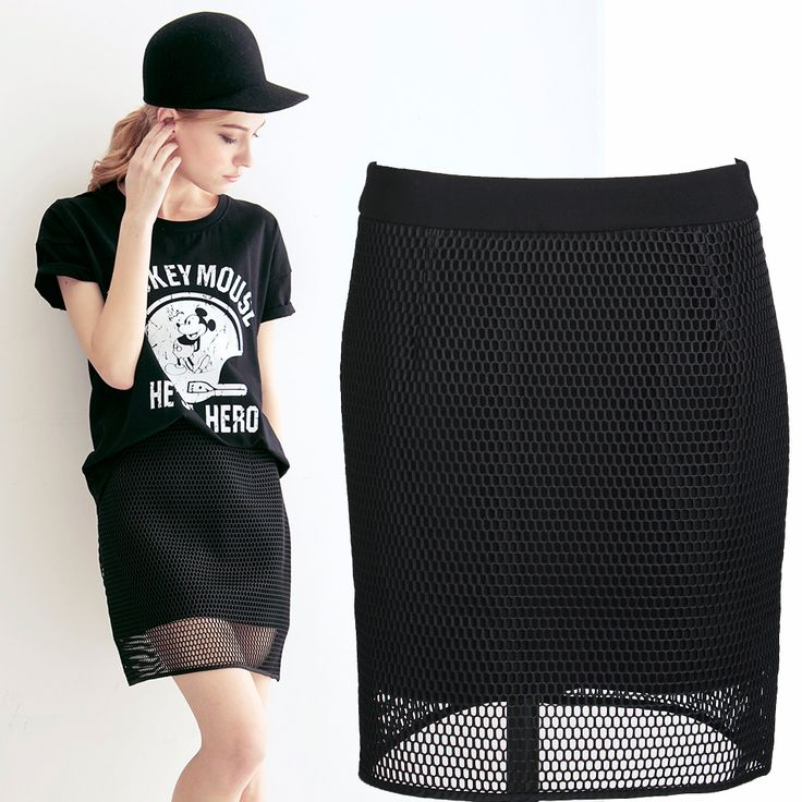 Top Quality New 2014 Summer Fashion Double Layer Knee-length Net Skirt Women Brand Designer Hollow Out Skirt € 19,88