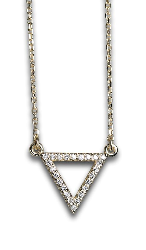 Petite Diamond Triangle Necklace