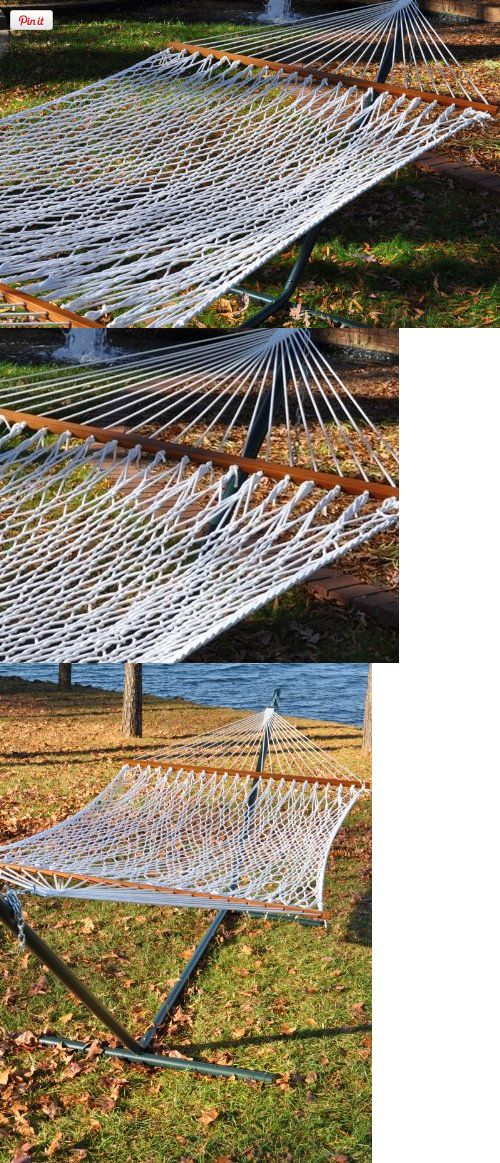 Medium image of double rope hammock with hammock stand  bo   outdoor living  hammock stands
