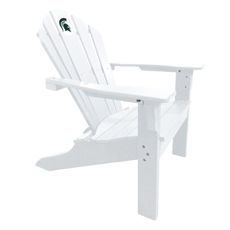 Michigan State Spartans Big Daddy White Composite Adirondack Deck Chair
