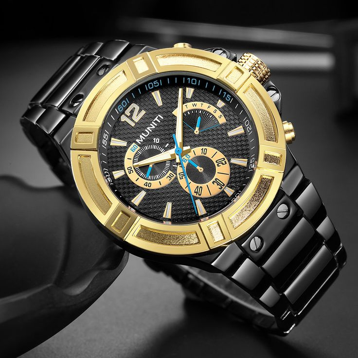 Sport Chronograph Watches Waterproof Luminous Military Watches for Men Stainless Steel Quartz Watch