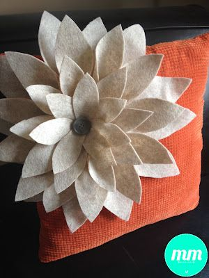 DIY Felt Flower Pillow (UpCycle a boring old pillow!) - Time 2 Save Workshops