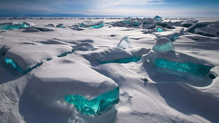 You can find this unique ice at Lake Baikal, Russia. This phenomenon happens in March, when sunlight... - All Rights Reserved - Pastimers - World's Best & Worst/YouTube