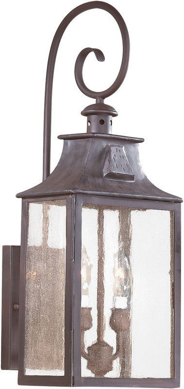 "Buy the Troy Lighting BCD9002OBZ Old Bronze Direct. Shop for the Troy Lighting BCD9002OBZ Old Bronze Newton 2 Light 23"" Outdoor Wall Sconce with Seedy Glass and save. $396"