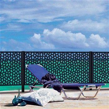 Panneau Mosaïc, coloris anthracite - l. 100 x H. 200 cm