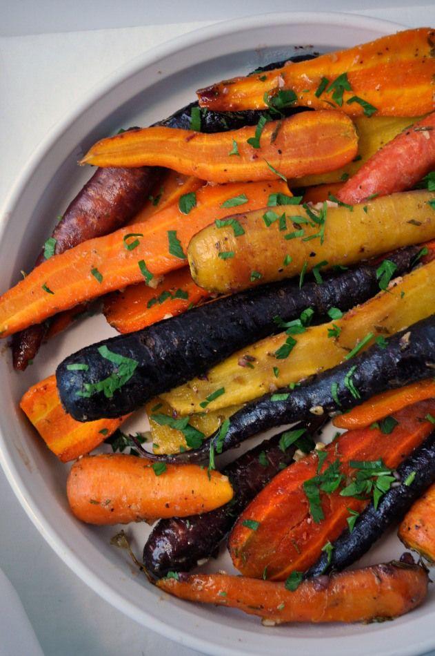 Honey-Garlic Glazed Carrots with Rosemary and Dijon  www.flavourandsavour.com #carrots #honey-mustard #honey-garlic