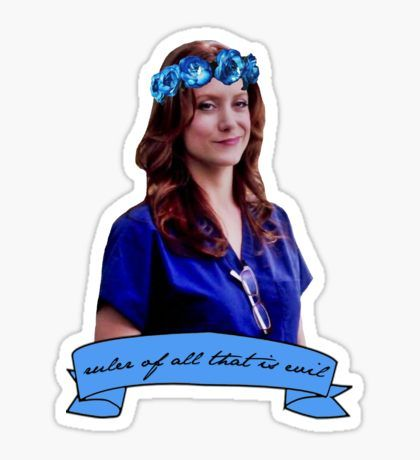 Addison Montgomery - Ruler of all that is evil Sticker