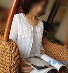 Мобильный LiveInternet Белая кофточка филейным вязанием с рюшами | Lena-zelena - Дневник Елены Сидельниковой |