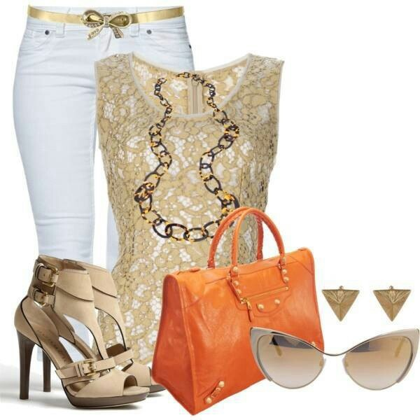 Casual Outfit Beige Shoes Ladies
