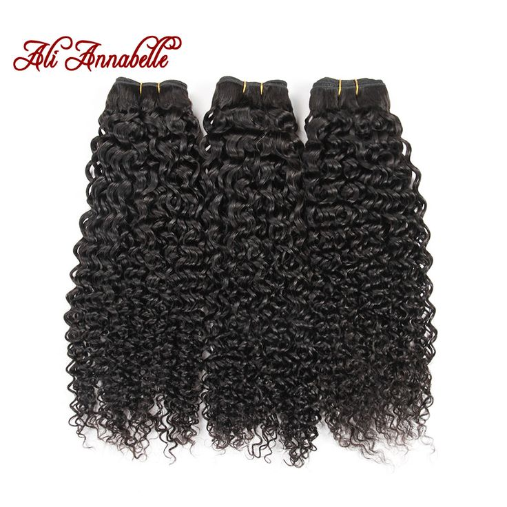 Ali Annabelle Hair 3pcs Lot 8A Brazilian Virgin Hair Kinky Curly Human Hair Extension 1B Natural Black Hair Weave 12 to 28inch