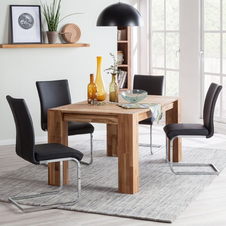 17 best ideas about table avec rallonge on pinterest for Table de salle a manger en chene avec rallonge