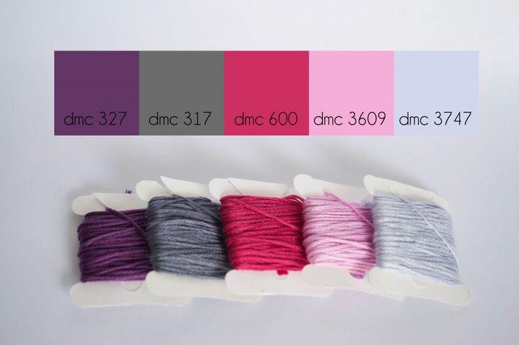 Plum pop color palette www.lovelymesses.com #dmcfloss