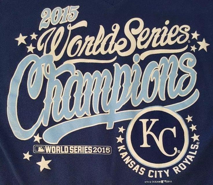 Kansas City Royals Womens Medium Blue Shirt World Series Champions 2015 Baseball #CampusLifestyle #KansasCityRoyals