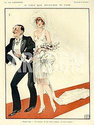 Французская свадебная иллюстрация, 1920-30-е