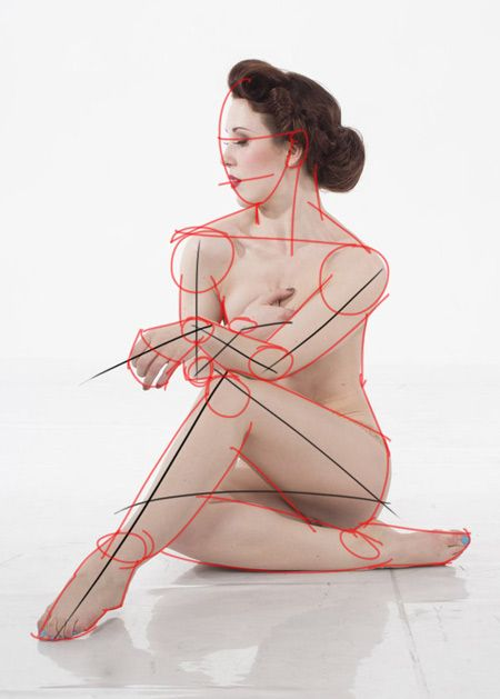 technique pour dessiner en schématisant le corps humain