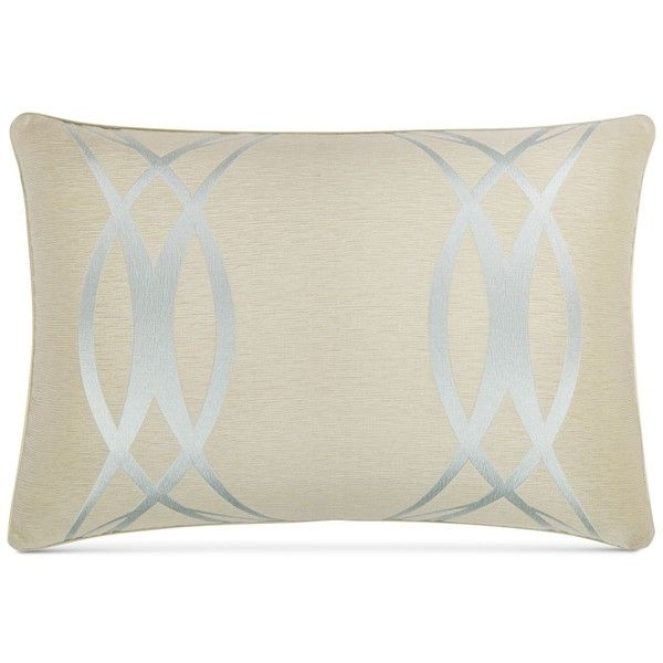 Hotel Collection Ogee Standard Sham, ($70) ❤ liked on Polyvore featuring home, bed & bath, bedding, bed accessories, blue baby bedding, hotel collection bedding, contemporary bedding, light blue bedding and pale blue bedding