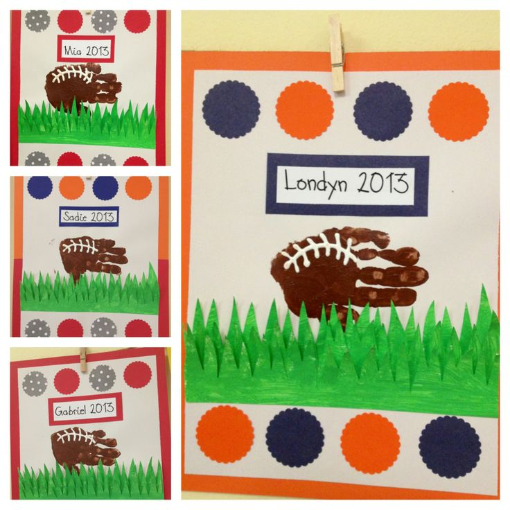 54 best teacher sports theme images on pinterest for Football crafts for preschoolers
