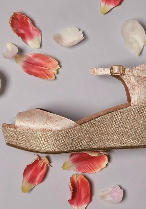 A gorgeous pair of TOMS Floral Jacquard Wedges will complete your wedding day look this spring.