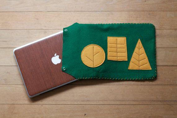 Woodland Forest Landscape Laptop / iPad Sleeve by GloriousBandits on Etsy, $40.00 (NZD).