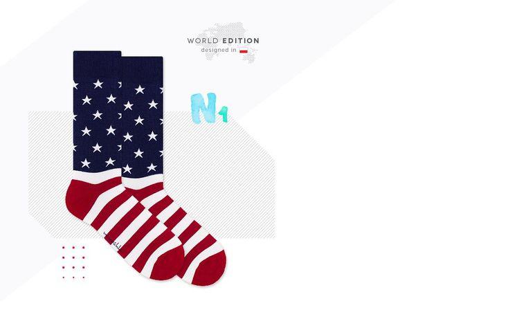 Kultowe skarpetki flaga USA Nanushki New York