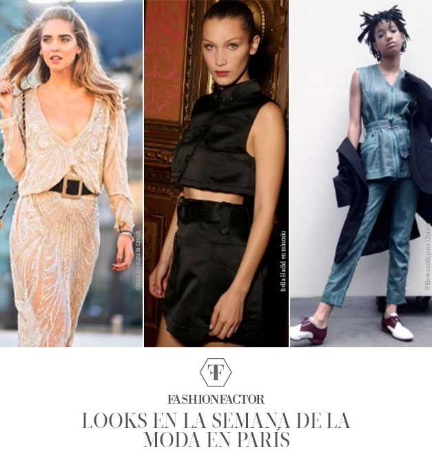 Chiara Ferragni en Cavalli , Bella Hadid en Miu Miu y Willow Smith en el show de Chanel nos dan una guia de que usar para asistir a una semana de la moda en paris.