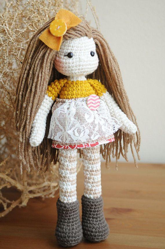 Amigurumi Long Hair : 1000+ images about Toys - dolls 2 on Pinterest Crochet ...